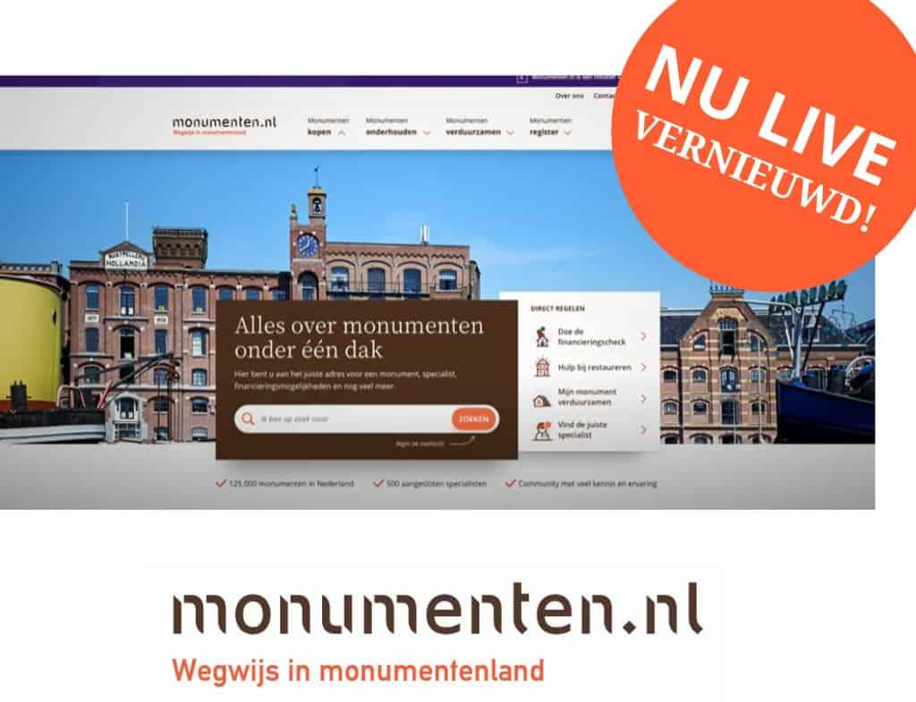 Vernieuwde website Monumenten.nl